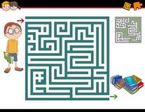 Maze activity illustration Royalty Free Stock Photography