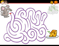 Maze activity with mouse Stock Image