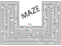 Maze against white Stock Photo