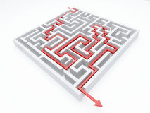 Maze_arrow Image stock