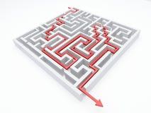 Maze_arrow Stock Image