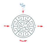 Maze With Arrows rond Illustration Stock