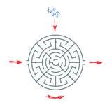 Maze With Arrows rond Photo libre de droits