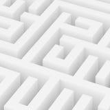 Maze Background bianco Illustrazione Vettoriale
