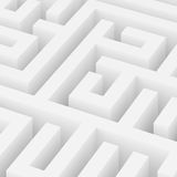 Maze Background branco Foto de Stock