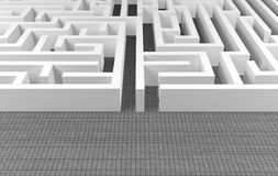 Maze background. Complex problem solving concept royalty free illustration