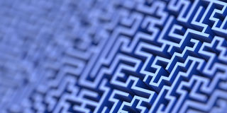 Maze background, risk and solution illustration concepts Stock Images