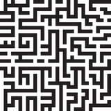 Maze background, seamless pattern, vector Stock Photography