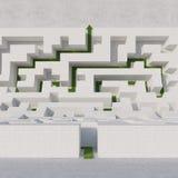 Maze bend with arrow Stock Photos
