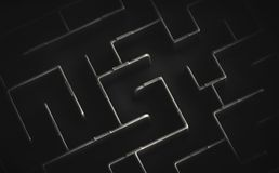 Maze in black and white Royalty Free Stock Photos