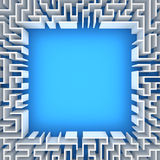 Maze with blank space Royalty Free Stock Images