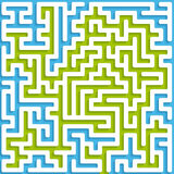 Maze blue and green Royalty Free Stock Images