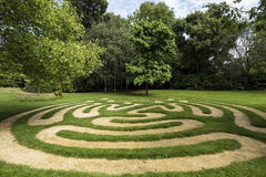 Maze in Burghley House park, Garden of Surprises, England, United Kingdom. Stock Photos