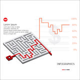 Maze Business Infographic Fotografia de Stock Royalty Free