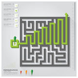 Maze Business Infographic Design Template Stock Afbeelding