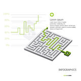 Maze Business Infographic. Design Template Stock Photos