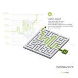 Maze Business Infographic Stock Photos