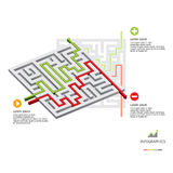 Maze Business Infographic. Design Template Royalty Free Stock Images