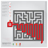 Maze Business Infographic Design Template. Maze Business Infographic Background Design Template Stock Images