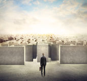 Maze business Stock Image