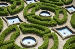 A maze in the castle garden Royalty Free Stock Photo