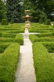 A maze in the castle garden Stock Images