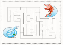 Maze for children 2. Color illustration of a children's play Royalty Free Stock Photography