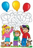 Maze 8 with children and balloons Stock Photo