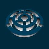 Maze circular volumetric 3d puzzle game blue.  Stock Image