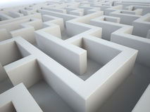 Maze close-up. Complex problem solving concept royalty free illustration