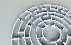 Maze close-up. 3D Illustration Royalty Free Stock Photos
