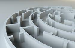 Maze close-up. 3D Illustration Stock Photos