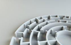 Maze close-up. 3D Illustration Stock Photo