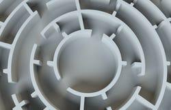 Maze close-up. 3D Illustration Royalty Free Stock Photography