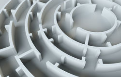 Maze close-up. 3D Illustration Stock Photos
