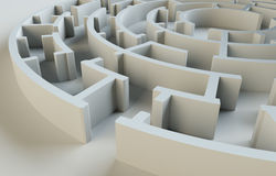 Maze close-up. 3D Illustration Royalty Free Stock Photo