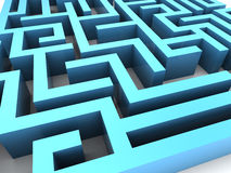 Maze closeup Stock Photography