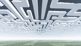Maze Clouds in Sky Stock Image