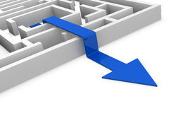 Maze concept Stock Photography