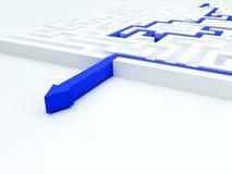 Maze concept Royalty Free Stock Photos