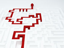 Maze concept Royalty Free Stock Photography