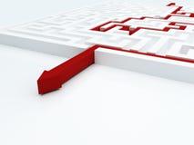 Maze concept Stock Image
