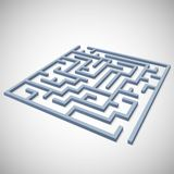 Maze concept for your business presentation Royalty Free Stock Photo