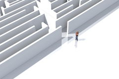 Maze. Conceptual image representing the difficulties and solutions to problems Stock Photos