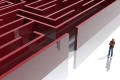 Maze1. Conceptual image representing the difficulties and solutions to problems Stock Images