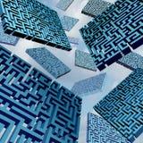 Maze Confusion Concept Arkivbilder