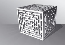 The maze cube Stock Photo