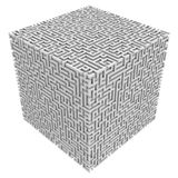 Maze cube Stock Images