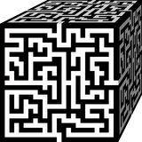 Maze Cube Stock Photography