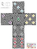 Maze Cube Template Stock Photos